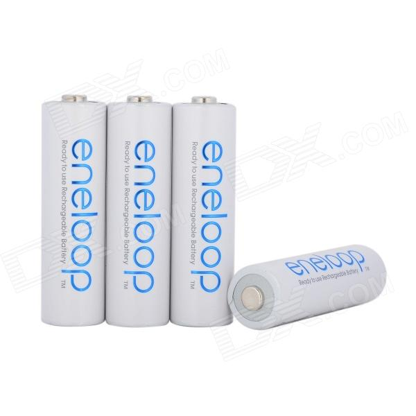 PANASONIC 1.2V 1900mAh Ni-MH Rechargeable AA Batteries - White + Blue (4 PCS)