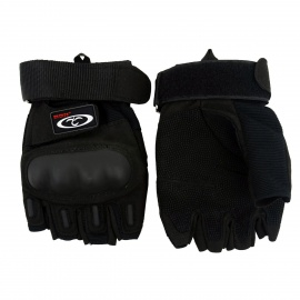 OUMILY-Outdoor-Half-Finger-Tactical-Gloves-for-War-Game-Black-(Pair-Size-XL)