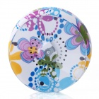 BTS-06 Flowers Style Bathroom Water Resistant Suction Cup Bluetooth V3.0 Speaker - White