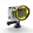 PANNOVO 58mm Underwater Color-Correction Filter Dive Filter w/ Flip Converter for GoPro Hero 3+