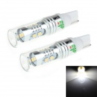 HJ  T10 8W 600lm 6500K 8-SMD 2323 LED White Light Steering / Reversing Lamp for Car (12~24V, 2PCS)