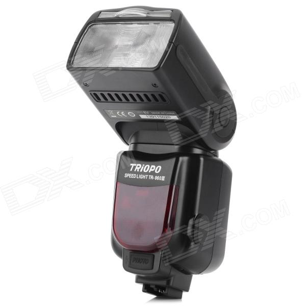 Triopo TR-960III 2,2 '' LCD 2,4 GHz 1000 lm 5500K Wireless Flash Speed ​​Sony - Sort