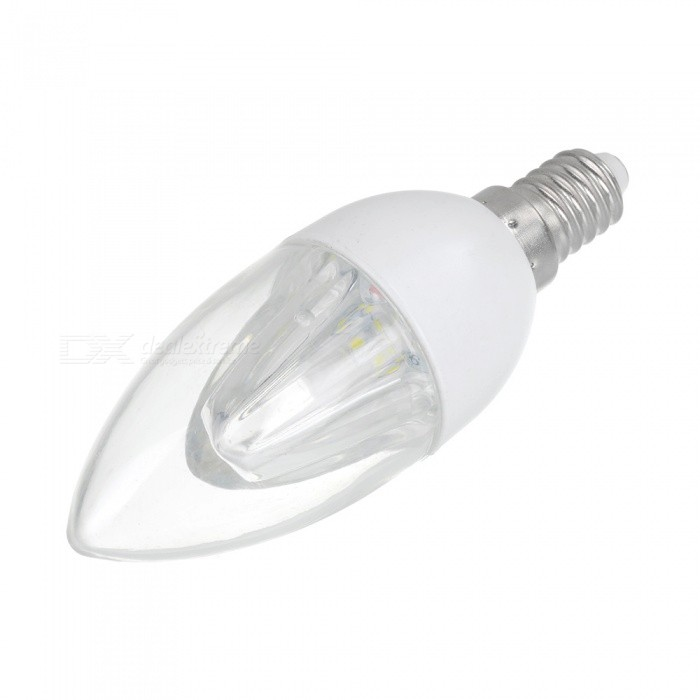 MLSLED MLX-LWT-1-2 E14 2W 160lm 3500K 10-SMD 3528 LED Warm White Light Bulb - White (AC 220V)