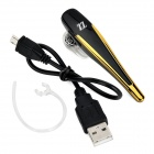 ZZ LE01 Bluetooth V4.0 Earhook Headset w/ Microphone / Voice Dial / Answer - Black + Golden