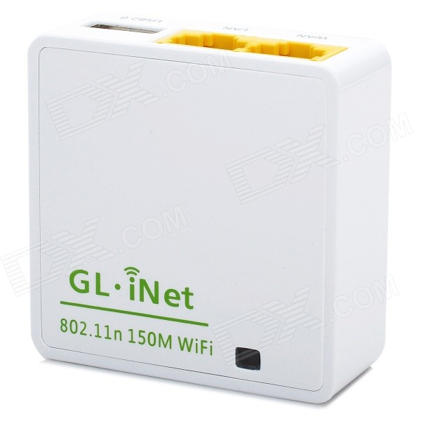Gl.iNet 6416A Micro USB Powered Smart Router w/ 16MB ROM - White ...