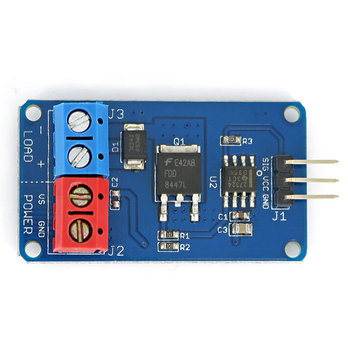 Buy High-Current MOSFET Fan/Motor/LED Strip Driver Module for Arduino AVR with Litecoins with Free Shipping on Gipsybee.com