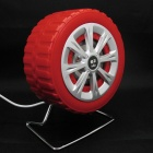 Newest JT053 Wheel Style Portable USB Powered 3.5mm Wired Desktop Speakers Set for PC / Laptop - Red