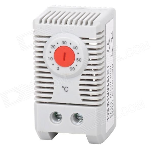 KTO011 Normally Closed Adjustable Temperature Controller - Grey + Red (0~60C)Gadgets<br>Form  ColorGREY+REDBrandN/AModelKTO011Quantity1 DX.PCM.Model.AttributeModel.UnitMaterialABSEnglish Manual / SpecYesOther FeaturesSuitable for heater, dehumidifier, warm air blower, etc; Control range: 0~60C; Contact type: snap-action contact; Contact resistance: CertificationCEPacking List1 x Controller1 x English user manual<br>