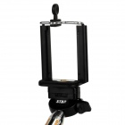 Retractable Selfie Monopod w/ Holders / Adapter for Samsung / HTC / IPHONE + More - Black