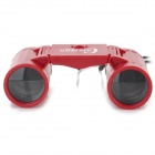 Plastic 2.5X Magnification Binocular Telescope Toy - Red