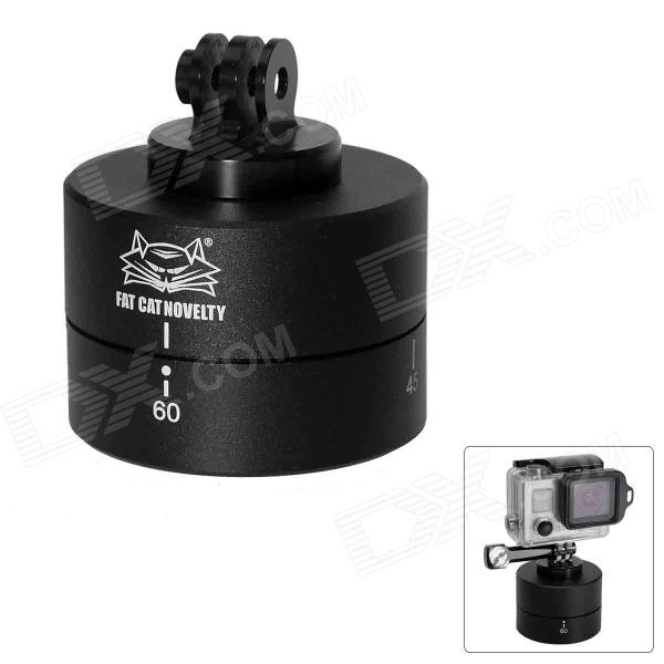 Fat Cat M-TL 360° Timing Auto Rotation Cradle Head for Gopro Hero 4/3+ / 3 / 2 / 1 - Black