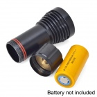 UltraFire LU-5 1-LED White + 1-LED Red 3-Mode Diving Flashlight - Black (1 x 32650)