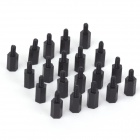 ZnDiy-BRY M3 8mm / 6mm Nylon Spacer Hex Pillars for RC Multicopters - Black (20 PCS)