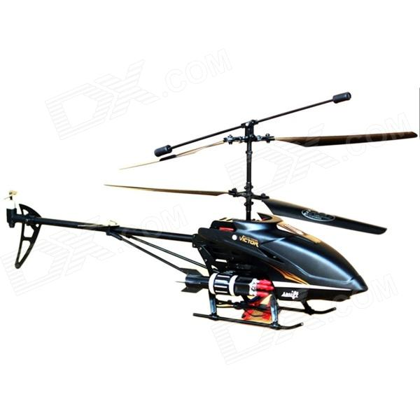 3.5-CH IR Helicopter Model Aircraft w/ Missiles + Remote Control - Black (4 x AA)