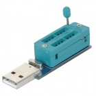 CH341 USB Port Reader & Writer & Programmer for EEPROM 24CXX - Cyan + Silver