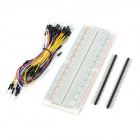 Breadboard Board + Cables + Resistors + LEDs Set for Arduino - Multicolored