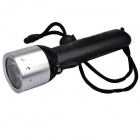 SingFire SF-603A 250LM LED White 2-Mode Diving Flashlight - Silver + Black (4 x AA)