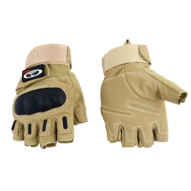 OUMILY-Outdoor-Tactical-Half-Finger-Gloves-Khaki-(Size-M-Pair)