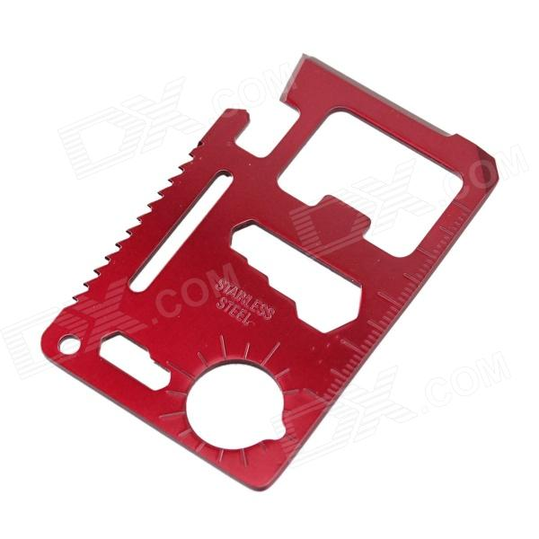 Portable Outdoor Multi-function Stainless Steel Tool Knife - Red