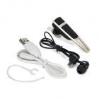 Nameblue T200 Bluetooth V4.0 In-ear Headset w/ Microphone for IPHONE 5 + More - Black + Silver