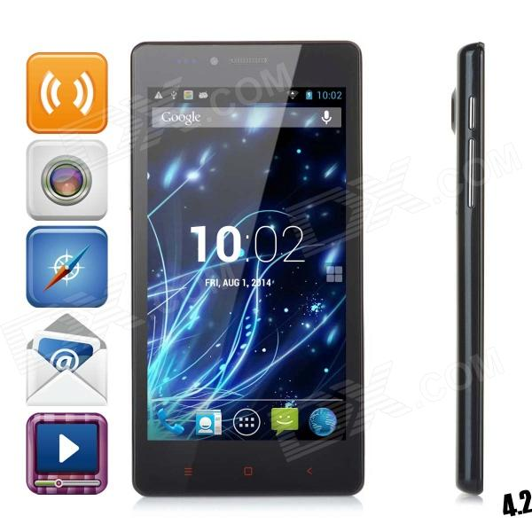 "LKD F2 Quad-core Android 4.2.2 WCDMA Bar Phone w/ 5.0"" Screen, Wi-Fi and GPS - Blue Grey"