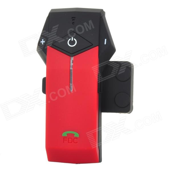 FDC-1000 Helmet Handsfree Phone Call Bluetooth Intercom Kit for Motorcycle - Black + Red