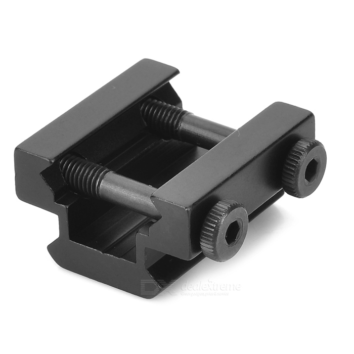 Buy Y0017 Aluminum Alloy Gun Sight Mount with Hex Wrench - Black with Litecoins with Free Shipping on Gipsybee.com