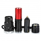 H6-T6 500lm 5-Mode White Light Flashlight w/ CREE XM-L T6 - Black (1 x 18650 / 3 x AAA)