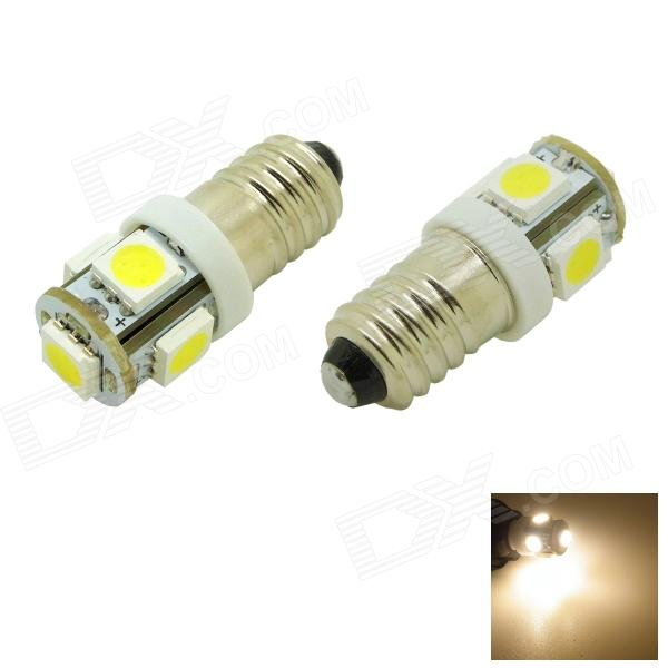 HONSCO E10 1W 3000K 70lm 5050 SMD LED Warm White Light Screw Bulb for DIY (Pair / 12V)