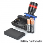8583-XPE 200lm LED Flashlight w/ Mounted Clip w/ Cree XP-E R3 - Black + Blue (3 x AAA)