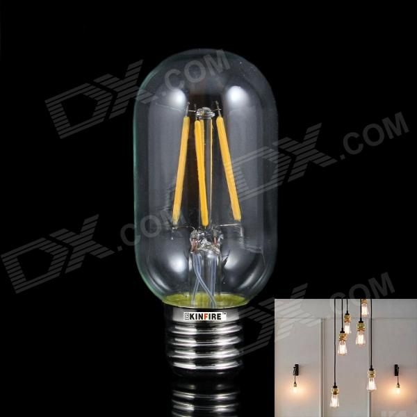 KINFIRE 4WW E27 4W 300lm 3000K Ampoule de filament à 4 LED chaude - Transparent (AC 220V)