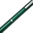 Z-03 Rechargeable 5mW Green Light Starry Sky Pattern Laser Pen - Green + Silver