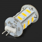 G4 3W 150lm 4000K 18-SMD 5730 LED Warm White Light Lamp - White + Silvery Grey (DC 12V)