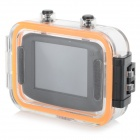 KM-07-2605 Diving Sports 5.0MP CMOS 120' Wide Angle Camera - Black + Orange