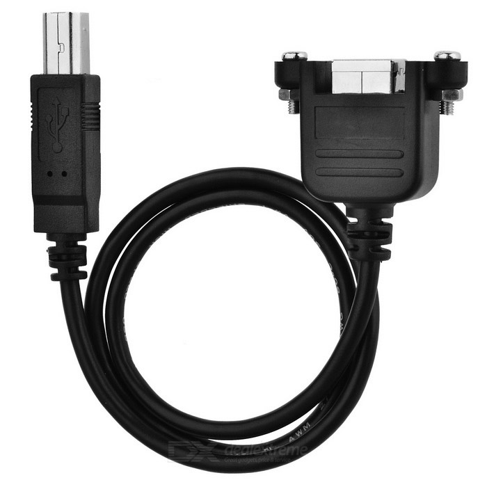 CY U2-228-0.5M USB 2.0 B-type Extension Cable for Printer Scanner HDD Enclosure (50cm)