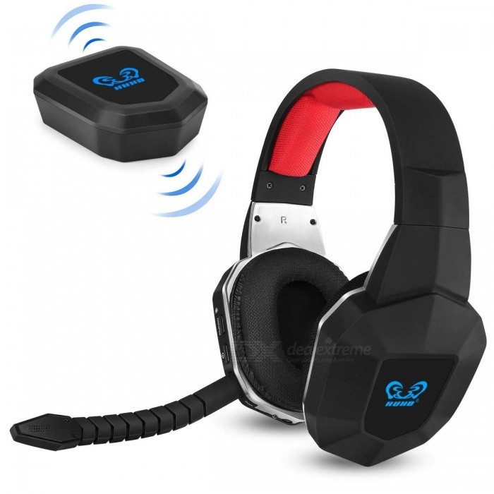 Buy Wireless Stereo Gaming Headset 2.4GHz Optical Game Headphones with 7.1 Surround Sound for PS4 Xbox One with Litecoins with Free Shipping on Gipsybee.com