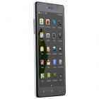 "A968 MTK6582 Quad-core Android 4.4.2 WCDMA Bar Phone w/ 5.5"" IPS QHD, FM, Wi-Fi ,GPS - White + Black"
