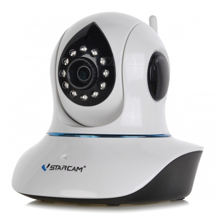 "VStarcam C7838WIP 1/4"" CMOS 1.0MP PTZ Cámara IP / 12-IR-LED / Wi-Fi / IR-CUT / TF - Blanco (US enchufes)"
