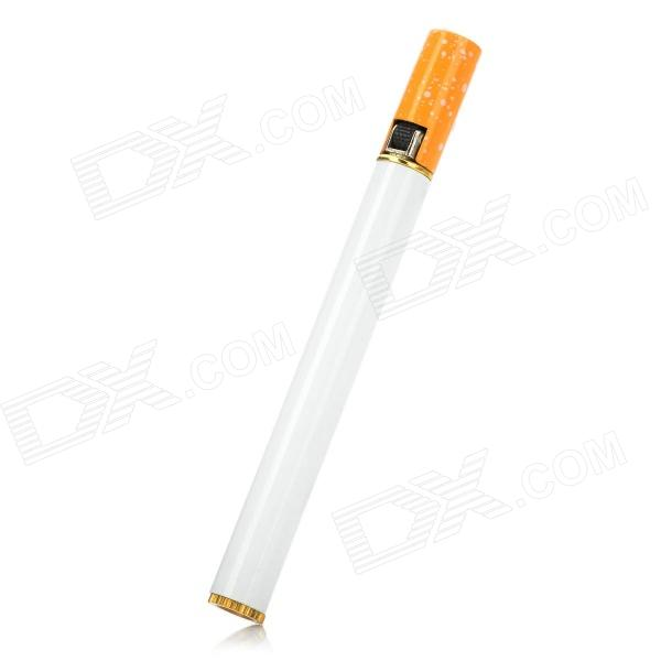 Cigarette- shaped Butane Lighter - White + Yellow