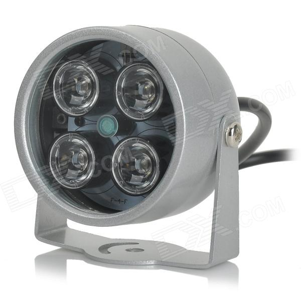 XH-401LED 12V 2A 4-LED Automatic Red IR Light for Surveillance Cameras / SKU 311804 - Silvery GreyOther Security Products<br>Form ColorShimmer Silvery greyModelXH-401LEDMaterialAluminu alloyQuantity1 DX.PCM.Model.AttributeModel.UnitPower AdaptornoPower AdapterOthers,DCRate Voltage12VRated Current2 DX.PCM.Model.AttributeModel.UnitOther FeaturesIR lighting range: 0~10m; F5 light number: 4Packing List1 x IR light (56cm cable)<br>