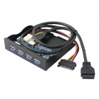 4-Port USB 3.0 Socket 19-Pin / 20-Pin Soft Drive Front Panel for Chassis - Black