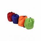 Outdoor Camping Auto Air Inflatable Nylon Cushion Pillow - Red