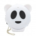Mini Cute Panda Style Rechargeable Stereo MP3 Music Speaker w/ TF Slot / 3.5mm Jack - White