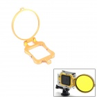 PANNOVO 58mm Underwater Color-Correction Diving Filter Converter Ring for Gopro Hero 3+ - Golden
