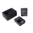 Fat Cat intelligents rapide chargeur double + 2 x 1650mAh AHDBT-302 Batteries Voyager Set pour GoPro Hero3 + / 3