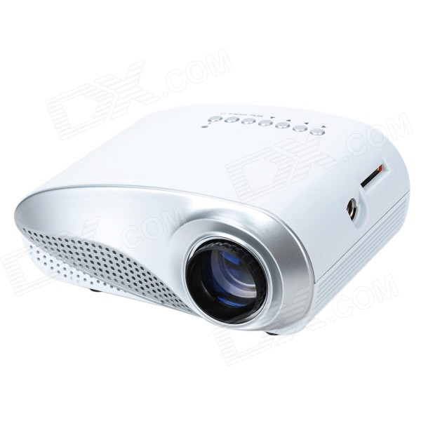 24W LCD High Definition Home Mini Projector w/ Supports HDMI - White (US Plugs)