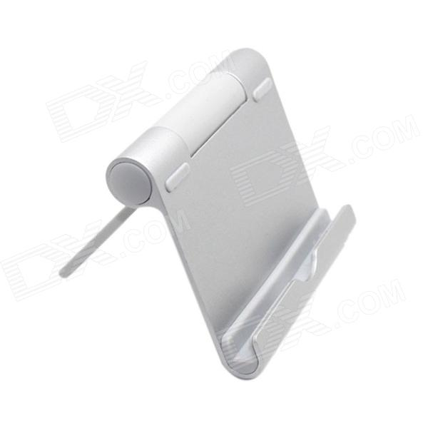 Universal Aluminum Alloy Mount Holder for IPAD / GPS / MP4 - SilverMounts &amp; Holders<br>Form  ColorSilverBrandN/AModelN/AQuantity1 DX.PCM.Model.AttributeModel.UnitMaterialAluminum alloyShade Of ColorSilverCompatible ModelsIPHONE 5S,IPHONE 5C,IPHONE 5,IPHONE 4,IPHONE 4S,IPHONE 3GS,IPHONE 3G,IPAD 4,IPAD 2,IPAD 1Compatible Size4-10 DX.PCM.Model.AttributeModel.UnitMount TypeDesktopRotationOthers,270 DX.PCM.Model.AttributeModel.UnitWith ChargerNoOther FeaturesCompatible with iPad 1 / 2 / 3, Samsung, HTC, Xiaomi cellphone and table PC, GPS, etc. You can put them directly into the holder without taking off the cover.Packing List1 x Holder<br>