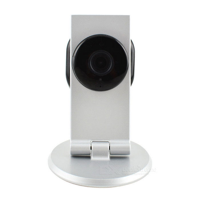 TENVIS TH671 Mini Indoor 1.0MP HD CMOS Night Vision P2P IP Camera - Silvery White