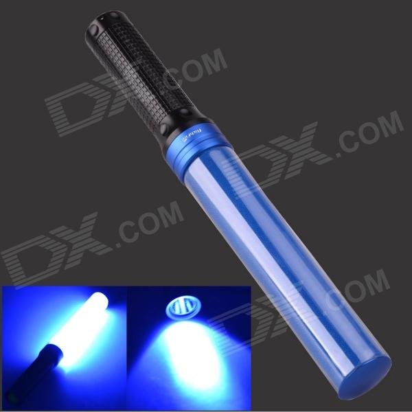 Buy 3W Blue Light LED Hand Light Stick Aluminum Alloy LED Flashlight - Blue + Black (3 x AAA) with Litecoins with Free Shipping on Gipsybee.com