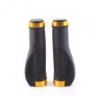 PJ-0026 Mountain Bike Anti-skid Handlebar Grip Cover - Black + Golden (2 PCS)